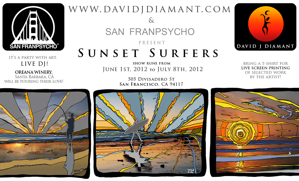 david j diamant - San Franpsycho - Sunset Surfers - June 1st 2011